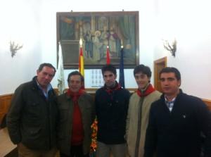 De izda. a dcha., Cipriano Hebreros, Pedro Gutiérrez Moya, Roberto Armendáriz, Pedro Gutiérrez Lorenzo e Íñigo Olcoz