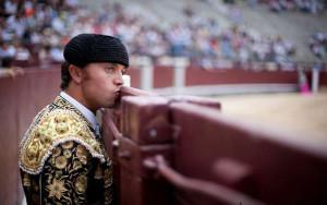 Abásolo durante su actuación en la plaza de Las Ventas.
