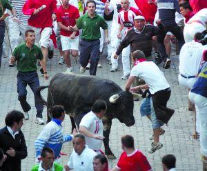 Los toros de Dolores Aguirre no cornearon a nacie en el encierro de 2009.