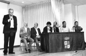 Un momento del coloquio sobre el encierro de Pamplona. Fotografía: Juan Suberviola.