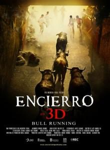 Carátula del 'Encierro', película documental en tres dimensiones.