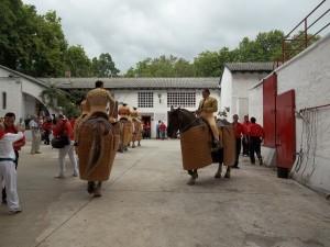 Imagen del patio de caballos de Pamplona, tomada desde la puerta de acceso al apartado. Fotografía: Jaime Esparza.
