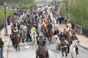 La trashumancia de ganado en Tudela fue un éxito el año pasado.