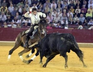 Armendáriz quebrando con Ranchero en La Misericordia de Zaragoza.