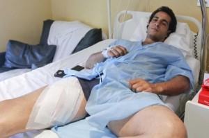 Iván Frandiño permanece ingresado. Fotografía: José Aymá.