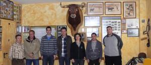 De izda. a dcha.: Goio Arraiza, Angel Ballarín, Igor Arizala, Jesús Angel Gambra, Blanca Villabona, Tomás Larrea y Sergio Nadal.
