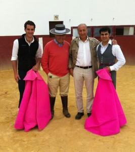 Pepe Moral, Ricardo Gallardo, Manolo Cortés y Francisco Expósito.