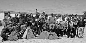 Los aficionados de Buñuel en la ganadería de Hermanos Magallón.