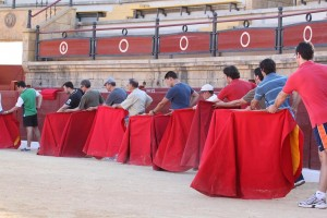 Un momento del curso para de toreo para aficionados que se celebró en Albacete.