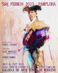 Cartel de la exposición en la sala Conde Rodezno de Pamplona.