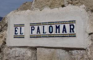 Entrada a la finca El Palomar.