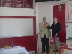 Jesús Vicente Cía, director de La Meca, explicó el sistema de compra de entradas por internet.