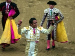 José Manuel Sandín se doctoró el año pasado en Estella y salió a hombros.