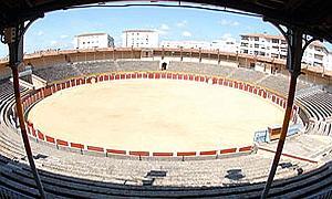Panorámica de la plaza de toros de Plasencia.