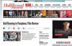 Portada web sobre 'Encierro' en 'The Hollywood Reporter'.