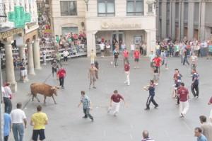 Una suelta de toro ensogado en Teruel.