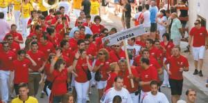 Aficionados de Lodosa en Chiva durante el congreso. Fotografía: Juan Antonio Vaquero.