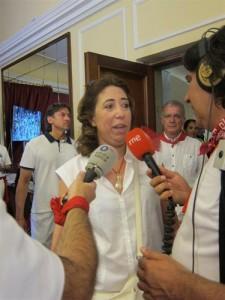 Carmen Alba durante San Fermín.