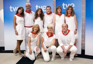 El equipo de TVE para San Fermín.