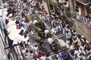 La manada se ha disgregado en la calle Estafeta.