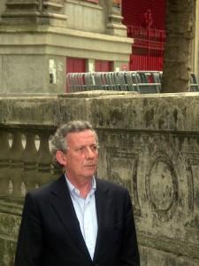 José María Marco, el pasado 18 de julio en el callejón de la plaza de toros de Pamplona.