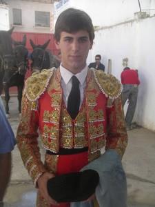 Javier Marín, hace dos años, el día que debutó de luces.