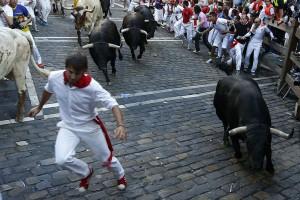Los toros de Aguirre en el callejón.