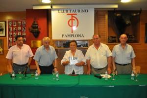 osetxo Gimeno, Jesús Zúñiga, Gloria Lezaun, Ignacio Ganuza y Jesús García Urbina.