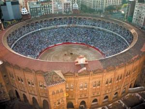 La plaza de toros de Barcelona la tarde que acogió su última corrida, con José Tomás.