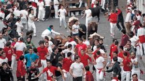 Muchos corredores y ningún incidente en el segundo encierro con novillos de las fiestas de Estella.