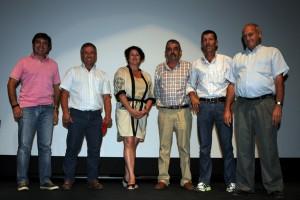 Los participantes en la charla sobre los festejos taurinos de Caparroso. Fotografía: Amaya Luqui.