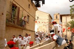 Escena de un ecierro rodado en Pitillas. Fotografía: Galdona.