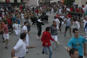Un momento del encierro con utreros de Guadaira. Fotografía: Ahora Zona Media.