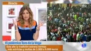 Mariló Montero, durante su programa matinal, en el momento de defender el Toro de la Vega.