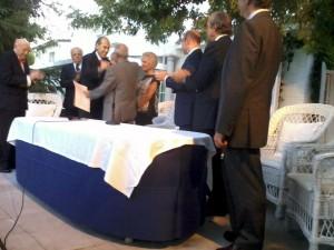 Momento en el que Antonio Purroy recibe en Madrid el premio Doctor Zumel.