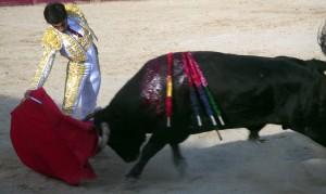 Derechazo largo del gaditano Pérez Mota.