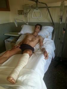 Paco Ureña en una habitación del hospital Reina Sofía de Tudela.