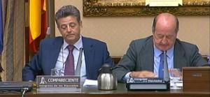 Juan Manuel Albendea, portavoz del PP, a la izquierda, en la Comisión de Cultura.