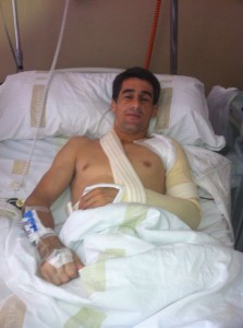 Francisco Marco tras ser intervenido en la clínica Ubarmin.