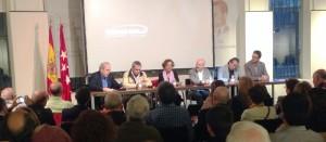 Un momento del coloquio de hoy en Las Ventas.
