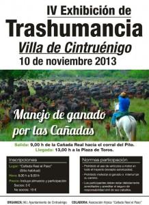 Cartel anunciador del evento en Cintruénigo.