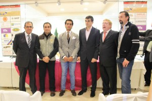 De izda a dcha,, Agustín Albo, Santos Zapatería, Iván Fandiño, Miguel Ventosa 'Venturita', Carlos Lasheras y Julián Marín.