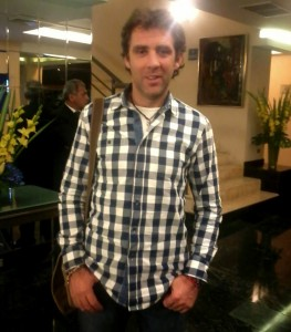 Pablo Hermoso de Mendoza, a su llegada a Lima.