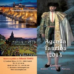 Díptico publicitario de la Agenta Taurina 2014, de Vidal Pérez Herrero.