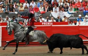 'Churumay' ofreció una verdadera lección de cómo recibir a un toro.