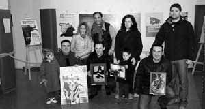 Los premiados por la asociación Lodosa por el toro. Fotografía: Vaquero.
