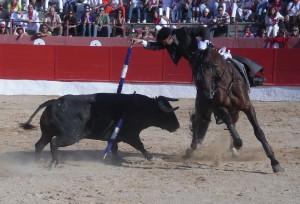 Diego Ventura en Corella, en 2008, en la que por ahora ha sido su última actuación en Navarra.