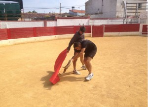 Francisco Marco entrenando en la plaza de Rda. Fotografía: Diego Larrañaga.