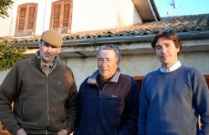 Nicolas Fraile entre sus hijos José Enrique y Nicolas Fraile Mazas.
