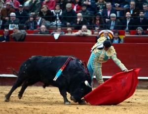 Natutal largo de Iván Fandiño a un Jandilla. Fotografía: Arjona.